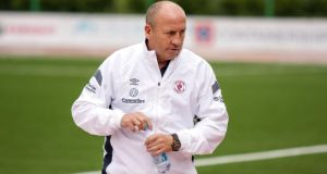 Sligo Rovers manager John Coleman will ensure his side maintain the attacking edge that brought their first  away European  victory  in  Rosenborg last week, when the Norwegian side run out at the Showgrounds for this evening's Europa League Second Qualifying Round  second leg tie. Photograph: INPHO/LFF
