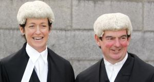 Judges Mary Irvine and George Birmingham who were appointed as judges to the Court of Appeal. Photograph: Eric Luke