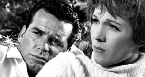 Television's loss was the movies' gain: James Garner with Julie Andrews in The Americanization of Emily (1964)