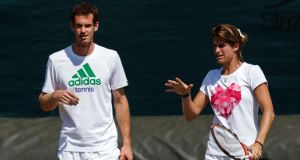 Andy Murray is set to continue his ground-breaking partnership with French coach Amelie Mauresmo. Photograph: John Walton/PA Wire.