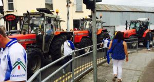 A traffic jam in Clones on match day