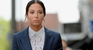 Former N-Dubz singer Tulisa Contostavlos arrives at Stratford Magistrates Court in London. Photograph: Anthony Devlin/PA Wire