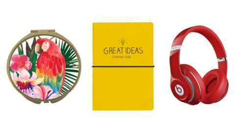 Havana compact mirror, €11.99 theelms.ie Great Ideas notebook, €9.95, Harvey Norman Studio over ear heedphones, €299 Beats by Dre at Harvey Norman