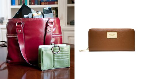 Pouchee Handbag Organiser, €27 secretfashionfixes.ie Jet Set Continental Wallet, €140 Michael Kors at Brown Thomas