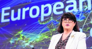 Maire Geoghegan-Quinn, European Commissioner for Research, Innovation and Science. Photograph: Eric Vidal/Reuters