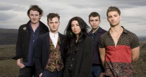 Little Green Cars: Stevie Appleby, Adam O'Regan, Faye O'Rourke, Dylan Lynch and Donagh Seaver O'Leary. Photograph: Steven Dewall/Redferns via Getty