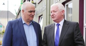 Irish Times columnist Noel Whelan and Frank Flannery   at the MacGill Summer School in Glenties.  Flanery warned that Fine Gael Ministers Ministers tend to be  captured by the civil service and become more and more detached from the public the longer they remain in office.  (North West Newspix)