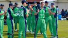 Andrew White leads the team out against Sri Lanka to become Ireland's most capped player with 227 caps. Photo: Rowland White/Presseye/Inpho