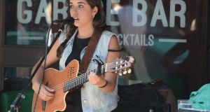 Paula Gomez playing at the Garage in Temple Bar. Photograph: Cyril Byrne