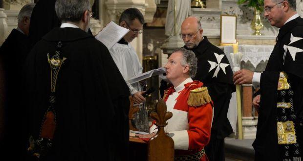Order of Malta knights Irish man in ancient ceremony