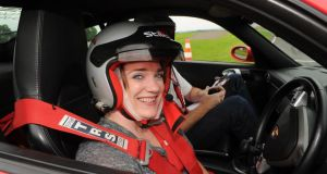 Need for speed: Louise Bruton at Rally School Ireland's track in Co Monaghan. Photograph: Philip Fitzpatrick