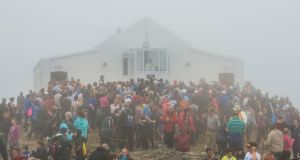 'This weekend, the Archbishop of Tuam Michael Neary had some provocative things to say during Mass at Croagh Patrick's summit.'  Photograph: Michael Mc Laughlin