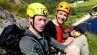 Irish climbers Colm Ennis and Peter Britton