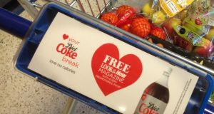 Coca-Cola is one of the major brands to use in-store trolley advertising