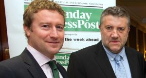 Post Publications investor and chief executive Paul Cooke (right) with acting editor Pat Leahy