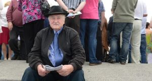John Mc Grath from Cahir, Co Tipperary, at Galway races yesterday. Photograph: Cyril Byrne