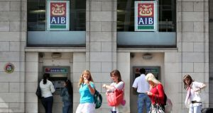 AIB made a pre-tax profit of €437 million compared with an €838 million loss a year ago. Photo: Bloomberg