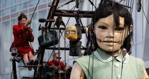 Some puppet: the Little Giant Girl in Liverpool. Photograph: Christopher Furlong/Getty