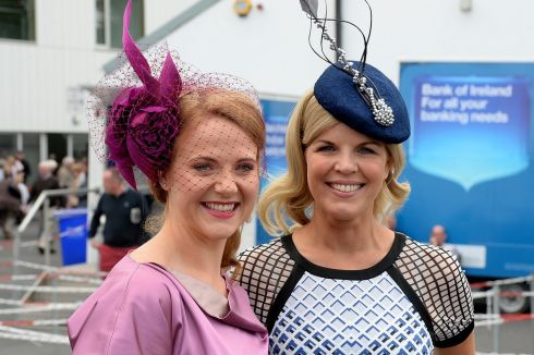 Senator Catherine Noone and Mariette Doran, Carlow  at the races. Photograph: Cyril Byrne/The Irish Times