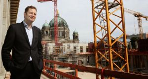 Rebuilding the house of Hohenzollern: Georg Friedrich Prinz von Preussen at the €590 million reconstruction of his family's former palace. Photograph: Adam Berry