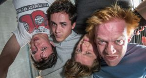 Punk Rock: Rhys Dunlop, Jonah Hauer-King, Ian Toner and Rory Corcoran in Simon Stephens's play. Photograph: Neil Harrison