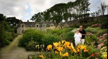Eddie Walsh and Constance Cassidy pictured in the Alpine Garden, Lissadell House. Photo Brian Farrell