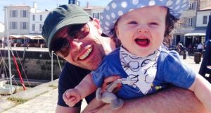 Brian Keane with his daughter, Grace, enjoying Île de Ré in France.