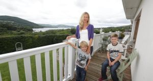 Joanne O'Donnell with Sam (4) and Ben Wallace (13) at home in Killaloe, Co Clare. Photograph: Brian Arthur/ Press 22