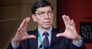 Harvard business theorist, Clayton Christensen, who published the landmark disruption book, The Innovators Dilemma. Photograph: John Lamparski/Getty Images