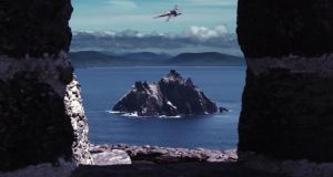 Independent film and video company Bold Puppy's  take on an X-Wing fighter flying off the Co Kerry coastline