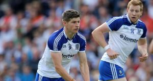 "Monaghan midfielder Darren Hughes: ""Now we've the chance to get back, win that championship game in Croke Park; we'll be putting our best foot forward."" Photograph:  Cathal Noonan/Inpho"
