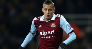 West Ham United's Ravel Morrison, 21, who has been charged with assaulting two women, Greater Manchester Police said. Photograph:  Stephen Pond/PA Wire