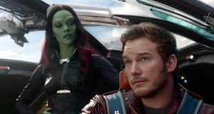 Far out: Zoe Saldana and Chris Pratt in Guardians of the Galaxy