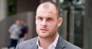 Republic of Ireland and Celtic striker Anthony Stokes at Dublin District Court today where he appeared charged with assaulting a man during an alleged row about a spilled drin. Photograph: Collins Courts.