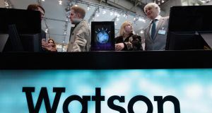 IBM Watson supercomputer has been integrated into a cloud-based tool from USAA, a financial services provider for the military community.  Photograph: Sean Gallup/Getty Images