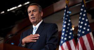 US Speaker of the House of Representatives John Boehner  all but accused Mr Obama of leaving the Constitution in tatters.  Photograph:  EPA