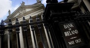 Bank of Ireland's  impairment charge on loans reduced by € 336 million or more than 40 per cent in the first half of 2014, relative to the corresponding period in 2013. Photograph: Bryan O'Brien/The Irish Times
