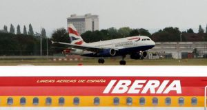 British Airways owner International Airlines Group reported a 55 per cent rise in second-quarter operating profit today, mainly due to a recovery at Spanish airline Iberia. Photograph: Steve Parsons/PA Wire