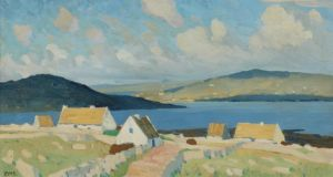 Carraroe, Connemara by Charles Lamb, (€7,500-€8,500) at Dolans Art Auction Summer auction