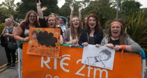 Ed Sheeran fans queue before an intimate gig for RTE 2fm  in front of an invited audience of listeners at RTE Radio studios. Dan Healy, the controller of 2fm, has said it is a matter of public record that he has been given between 24 and 36 months to turn the station around.   Photograph: Gareth Chaney/ Collins