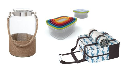 Large Rope Lantern, €52 Linea at House of Fraser Nest storage for 6, €49.99 Joseph Joseph Kissing Horses coolbag and Picnic Blanket, €108 (p&p inc) urbancuckoo.co.uk