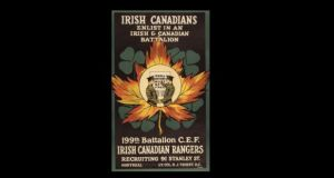 A Canadian recruitment leaflet targeting the Irish population