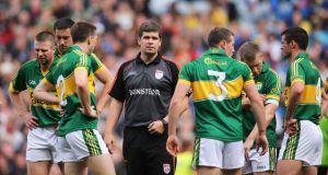 Kerry manager Eamonn Fitzmaurice before the 2013 All-Ireland SFC semi-final against Dublin at Croke Park. Kerry lost but such was their performance the young manager emerged with his reputation actually enhanced. Photograph: Cathal Noonan/Inpho