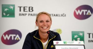 Caroline Wozniacki will run the New York City marathon on Marathon on November 2nd. Photograph: Erdem Sahin/EPA