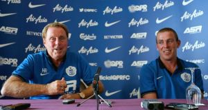 Queens Park Rangers manager Harry Redknapp and Richard Dunne at yesterday's press conference at Carton House. Photograph: Donall Farmer/Inpho