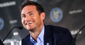 Former Chelsea midfielder Frank Lampard is to join Manchester City on loan. Photograph: Chang W. Lee/The New York Times
