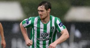 Bray Wanderers' goalscorer against Athlone Town Michael Barker.
