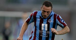 Drogheda United's Gary O'Neill scored two against UCD. Photograph: Inpho