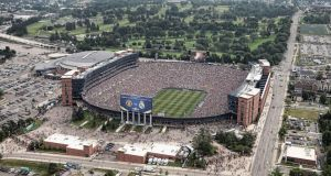 An aerial view of Michigan Stadium during the Guinness International Champions Cup match between Real Madrid and Manchester United. Photograph: Leon Halip/Getty Images