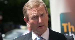 Support for Taoiseach Enda Kenny's Fine Gael is down four percentage points while support for Sinn Fein was up four points. Photograph: Gareth Chaney Collins